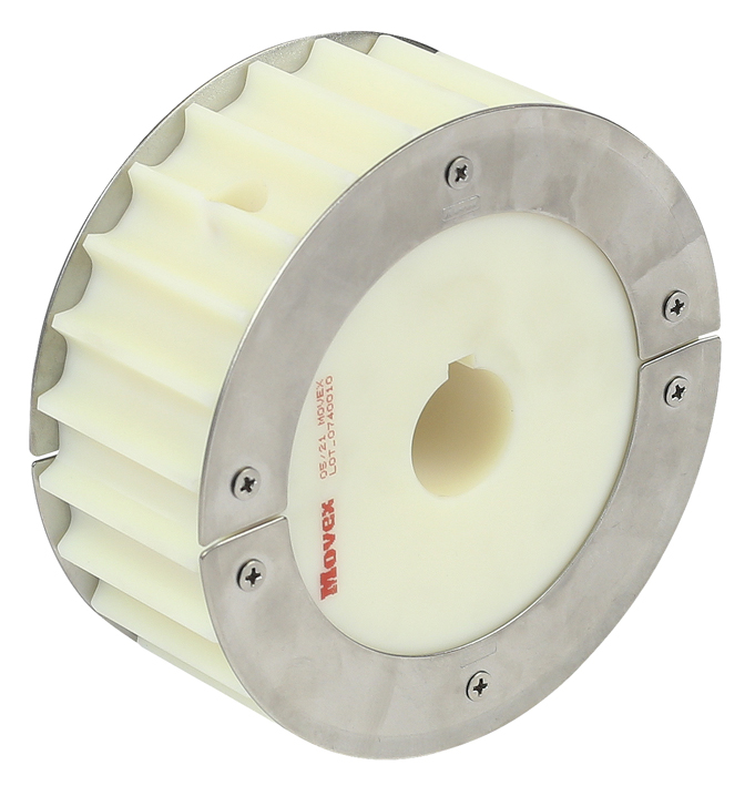 8157 - SPLIT FLANGED WHEEL, MILLED