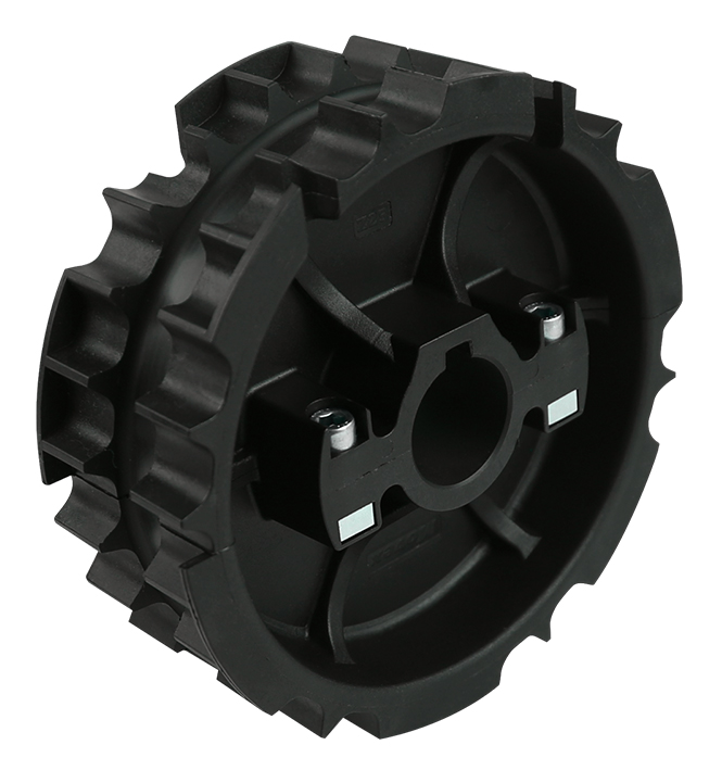 820-831 - DIVIDED, MOLDED TOWING WHEEL