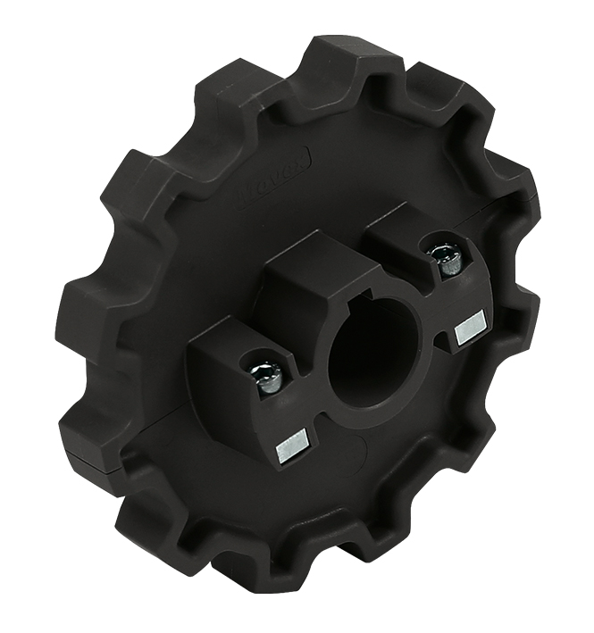 882 - DIVIDED, MOLDED TOWING WHEEL
